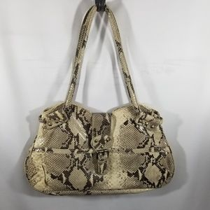 Cynthia Rowley Faux Snakeskin Shoulder Bag